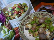 Brussels Sprouts with Bacon, Orange and Hazelnuts