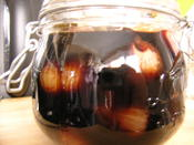 Shallots in balsamic vinegar