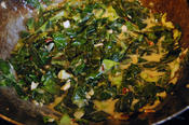 spring greens with coconut and chilli