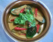 south east asian mussel curry