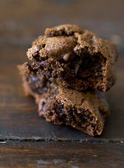 Triple Chocolate Espresso Bean Cookies