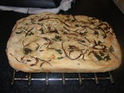 sage and onion foccacia